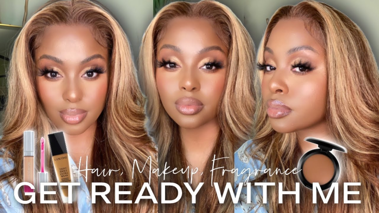 GRWM: Bronze Soft Glam Makeup + Beginner Friendly Wig Install | Date Night Makeup + Hair Tutorial