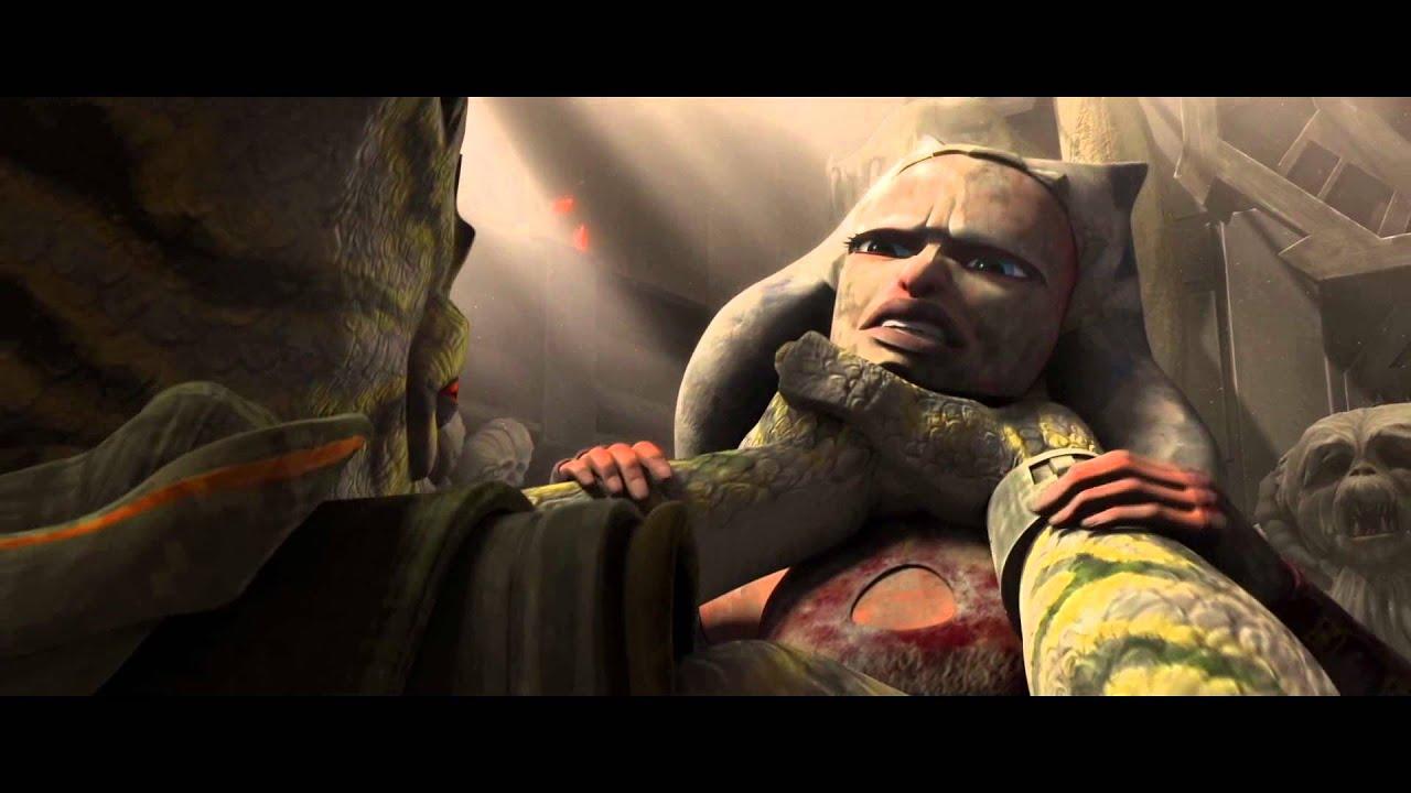Star Wars: The Clone Wars - Ahsoka Tano vs  Garnac (Trandoshan leader)  [1080p]