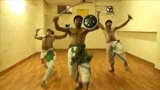 mayurbhanj chhau dance technique ( Gurukul chhau dance sangam ) online.