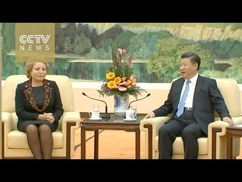Chinese President meets Russian Federation Council Chief