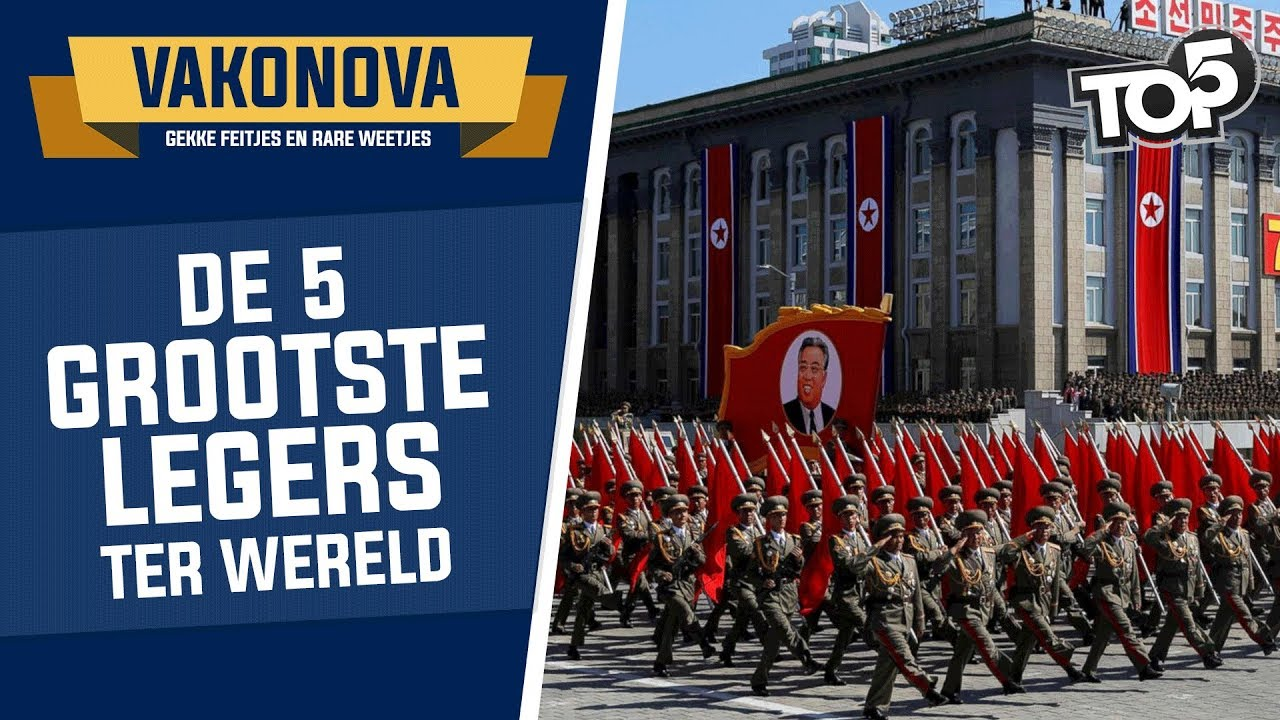 TOP 5 GROOTSTE LEGERS Vakonova YouTube