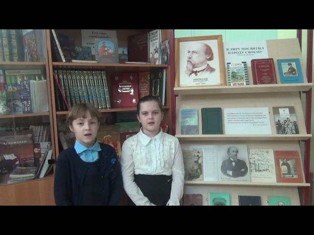 Изображение предпросмотра прочтения – «Арина Балашова и Маргарита Чернова» читают отрывок изпроизведения «Мороз, Красный нос» Н.А.Некрасова