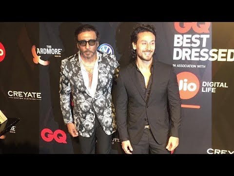 GQ Best Dressed 2017 Party - Tiger Shroff, Jackie Shroff - Red Carpet
