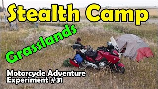 Stealth Camping in Wyoṁing Grasslands - Ep. 31 Motorcycle Adventure Experiment