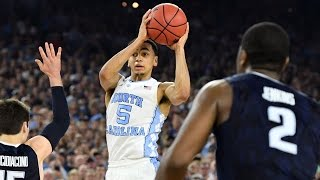 villanova vs north carolina marcus paige three pointer