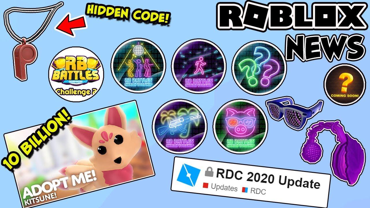 Roblox 2020 Rdc Roblox News Rb Battles 2 Leaks Events Adopt Me New Record Rdc 2020 Hidden Item Code Youtube
