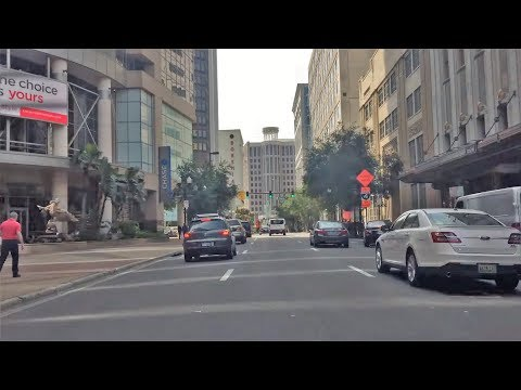 Driving Downtown - Orlando Florida USA