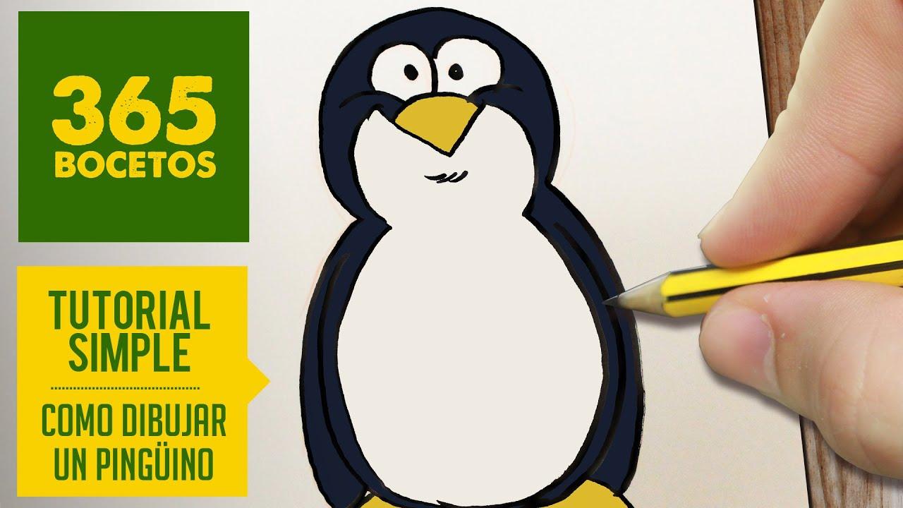 Como dibujar un pinguino facil paso a paso kawaii for Como se cocinan los percebes