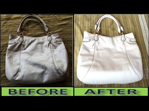 How to Turn Your Dirty Hand Bag Into Pure White Hand Bag || How to Clean Hand Bag at Home