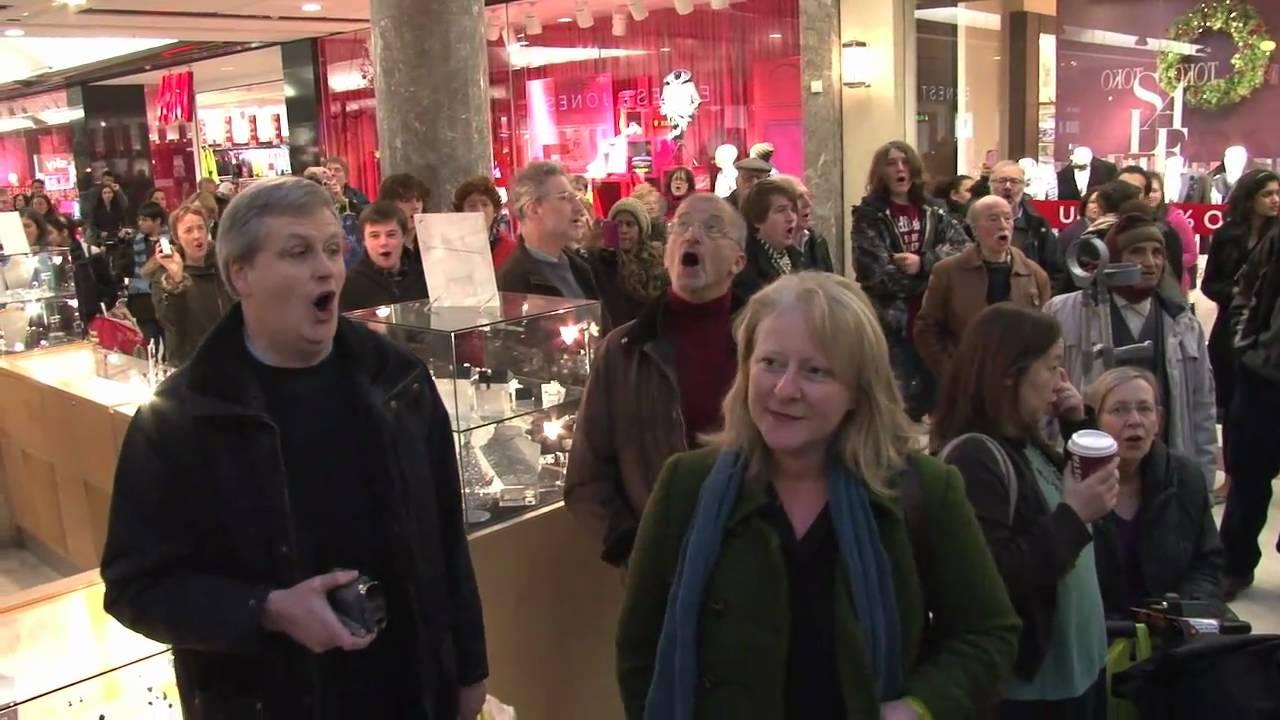 "Resultado de imagem para singing the ""Hallelujah Chorus."" in mall"