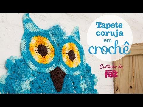 DIY - Tapete Coruja em Crochê (Diane Gonçalves)