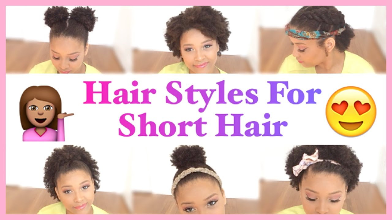 Cute HairStyles For Short Curly Hair - YouTube