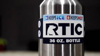rtic 36 oz bottle unboxing and first impressions