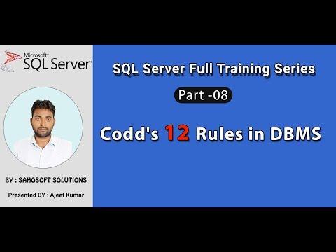 Codd's 12 Rules in DBMS : Part 8 - SQL Server Full Training series