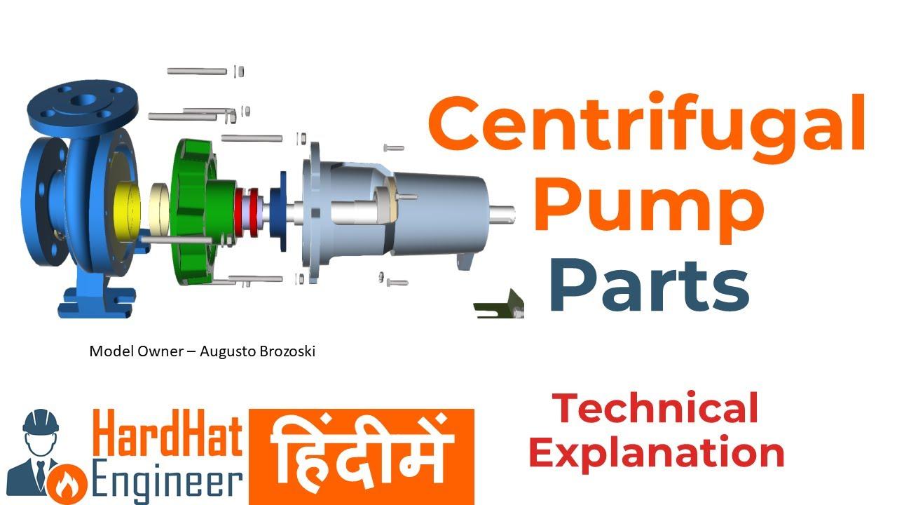 Centrifugal Pump Parts हिंदी मे। सेंटरीफ़्युगल पम्प के हिस्से।