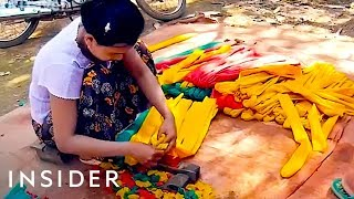 How Artisans Make Rubber Bands In Myanmar thumbnail