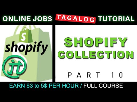 Shopify Collections Product Grouping Tutorial Online Jobs at Home Virtual Assistant Job Philippines thumbnail
