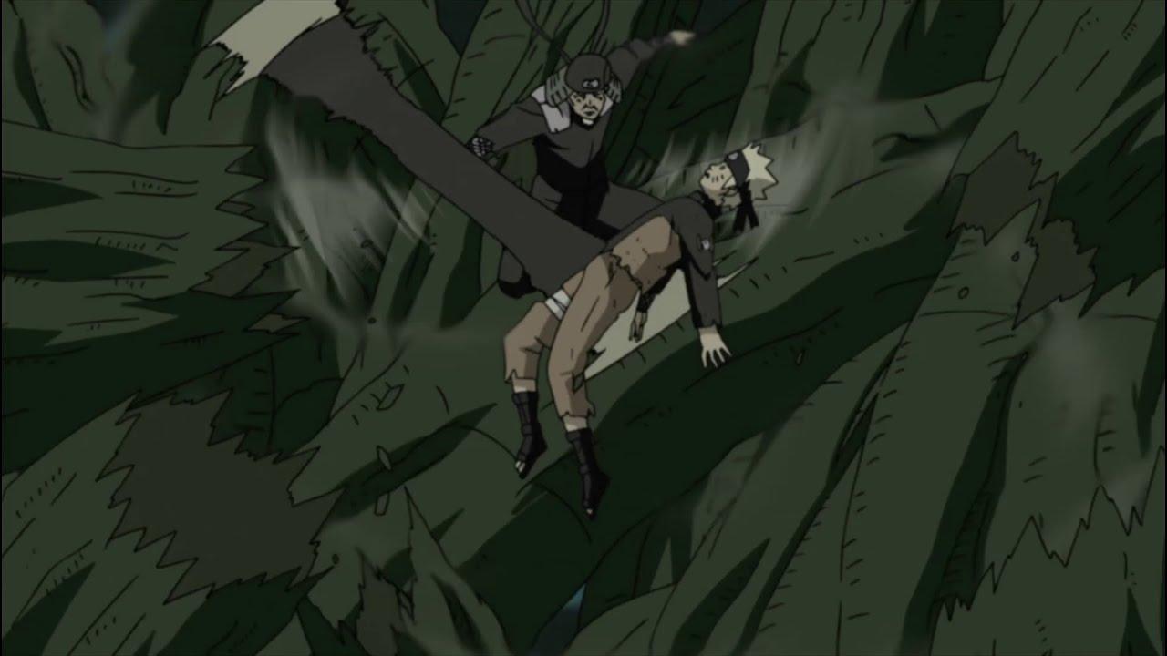 hiruzen saves naruto from the shinju tree youtube