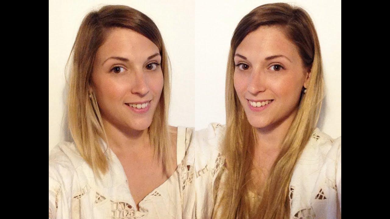 Extensions sur cheveux courts + idée coiffure - YouTube