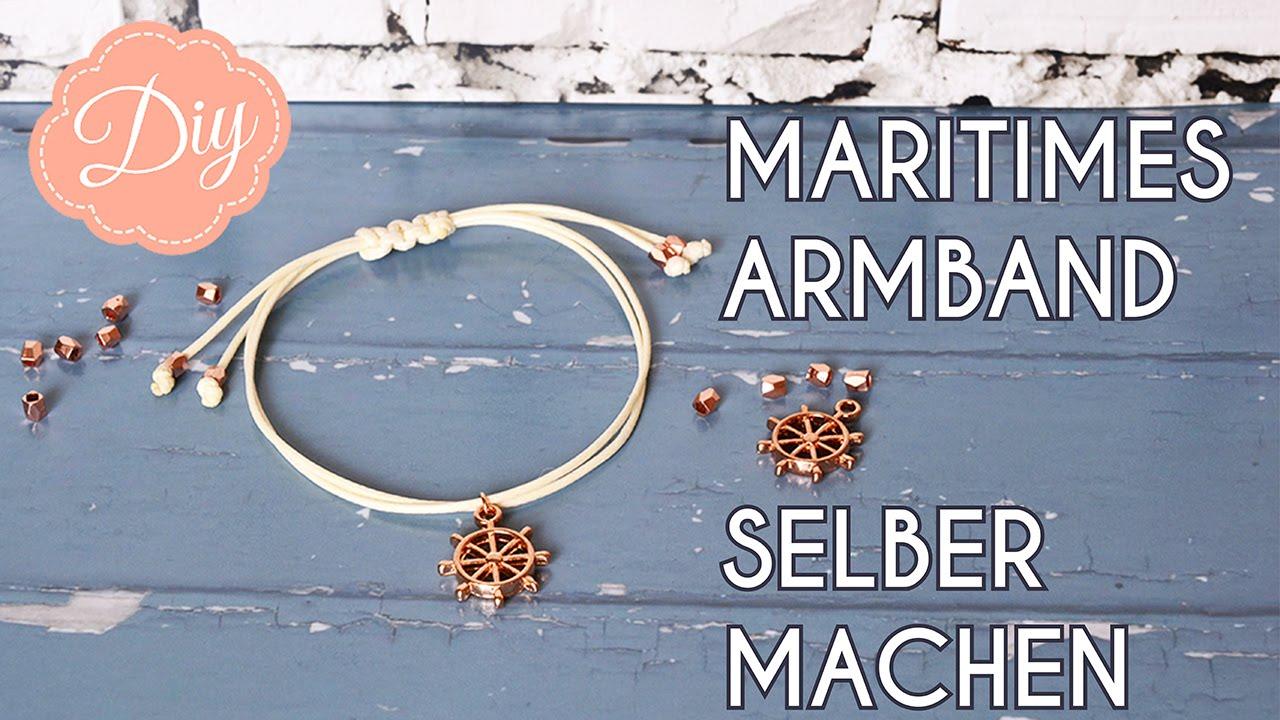 Schmuck Selber Machen Diy Maritimes Armband