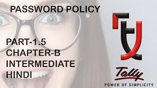 tally security control password PASSWORD POLICY # 1.5