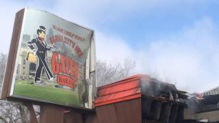 Gates Bar-B-Q destroyed by fire