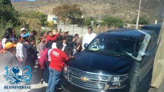AMLO llega en convoy a la montaña de Guerrero