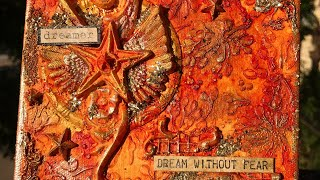 72. DREAM WITHOUT FEAR- Mixed Media Canvas Tutorial using Prima Marketing & Finnabair Products