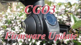 Yuneec Q500 4K CGO3 Camera Firmware Update