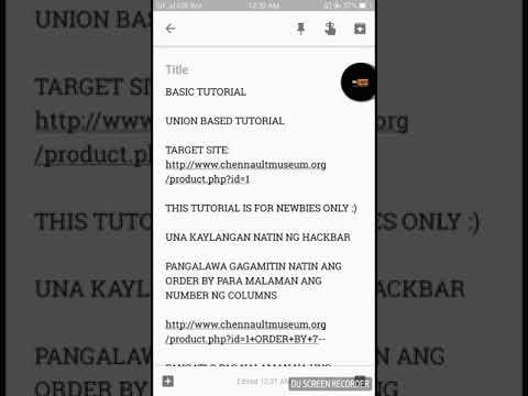 SQLI UNION BASED BASIC TUTORIAL
