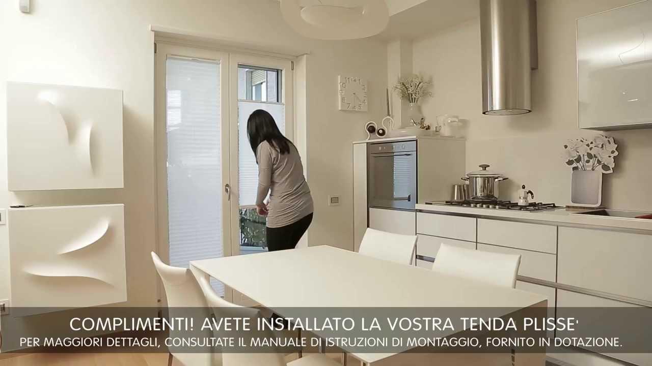 Come montare le tende a vetro sulle vostre finestre youtube for Tenda bagno finestra