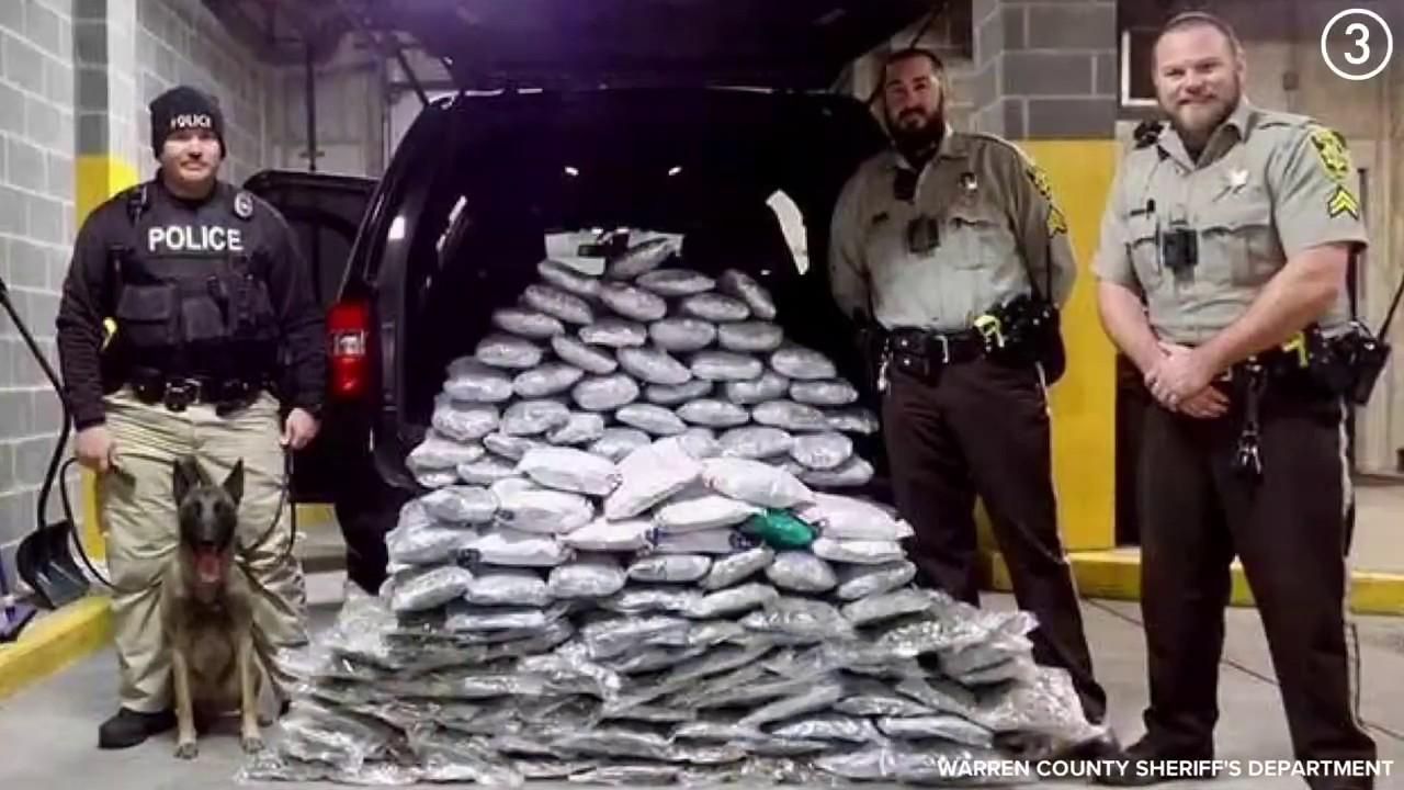 What does 157 pounds of marijuana look like? - YouTube