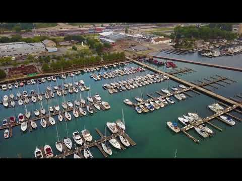 Final stages of construction - Bay Marine's Chicago Yachting Center