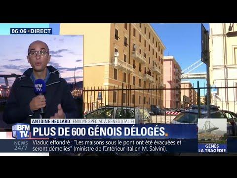 Gênes: plus de 600 habitants délogés