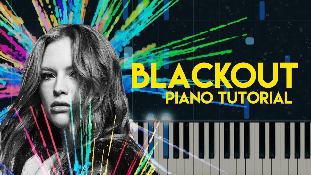 Freya Ridings Blackout Piano Tutorial Accompaniment