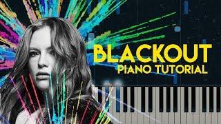 Freya Ridings - Blackout | Piano Tutorial (Accompaniment)