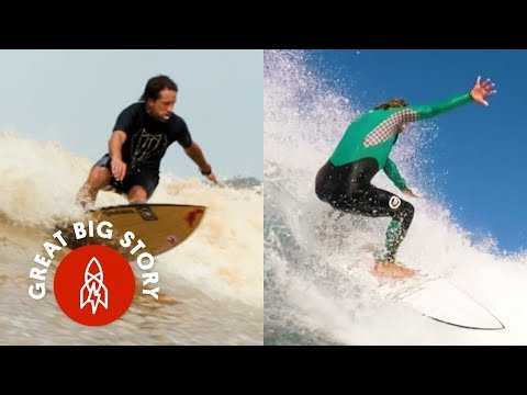 Surfers Making Waves From Montana to the Amazon River