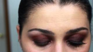 Mac Nudes and Metallics Purple Burgundy Smokey Eye makeup tutorial in HD Thumbnail