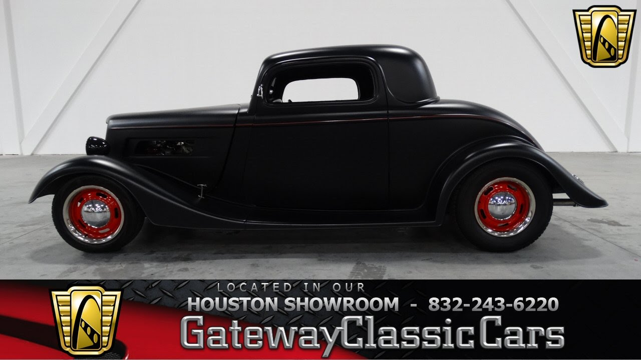 1934 ford 3 window coupe houston texas youtube for 1934 ford 3 window coupe for sale