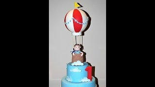 Cake decorating tutorials | how to make an air balloon cake topper | Sugarella Sweets