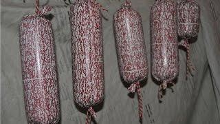 КОЛБАСА сыровяленая - СУДЖУК . Часть 1- Рецепт приготовления  Суджука.  Колбаса Домашняя.
