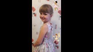 Обзор платья с открытой спинкой на девочке