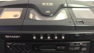 SHARP WQ-CH800E 5 Disc CD Radio Cassette Ghettoblaster