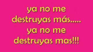 No me destruyas - Zoe (Letra)