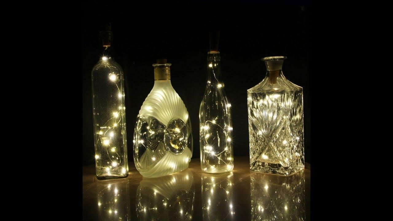 Auraglow Rechargeable Usb Cork Bottle String Light Ag362