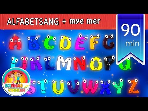 Barnesanger på norsk |  ABC sang |  Alfabetsang og mye mer | 90 min