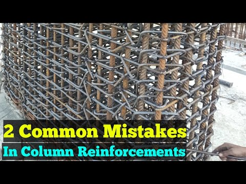 Column Reinforcement  Detail - Checking Of Common Mistakes Column Steel