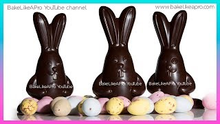EASY Super Cute 3D Chocolate Easter Bunnies Tutorial   Professional Method