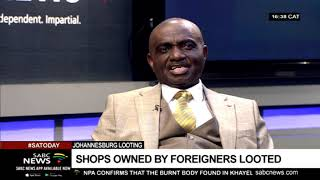 Reaction to spreading looting across Johannesburg: Godwin Adama
