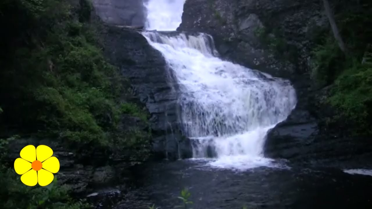 Loud waterfalls white noise to write do yoga or relax for Cascada de pared